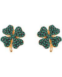 Gabi Rielle - Clover Cz Earrings - Lyst