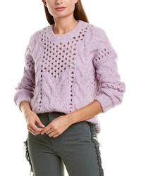 IRO Eyelet Knit Wool-blend Jumper - Purple