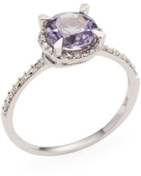 Rina Limor - Created Alexandrite Halo Ring - Lyst