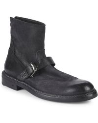 John Varvatos - Ellis Back Zip Moto Ankle Boot - Lyst