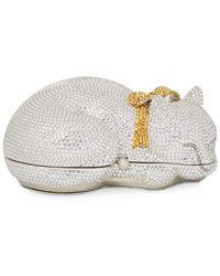 Judith Leiber - Sleeping Cat Clutch Bag - Lyst
