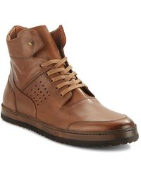 Mezlan - Bolzano Leather High-top Trainers - Lyst