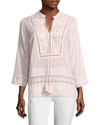 Plenty by Tracy Reese - Cotton Embroidered Kurta - Lyst