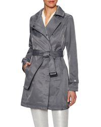 French Connection - Cotton Asymmetrical Belted Trench Coat - Lyst