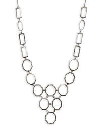 Bavna - Champagne Diamond And Sterling Silver Geometric Necklace - Lyst