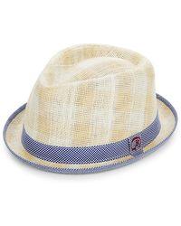 233b3dcff3e19c Robert Graham - Perforated Fedora Hat - Lyst