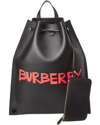 Burberry - Graffiti Print Leather Backpack - Lyst