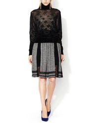 Jean Paul Gaultier - Pleated Lace Panel Skirt - Lyst