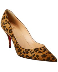 Christian Louboutin - Clare 80 Suede Pump - Lyst
