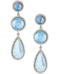 Adornia - Fine Jewellery Silver Kyanite Drop Earrings - Lyst