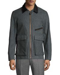 Billy Reid - Henry Contrast Collar Field Jacket - Lyst