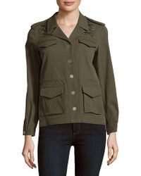 The Kooples - Solid Four-pocket Long-sleeve Jacket - Lyst