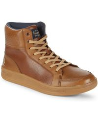 Original Penguin - Beckin Leather High-top Trainers - Lyst