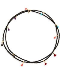 Shashi - Lilu 18k Gold-plated Beaded Necklace - Lyst