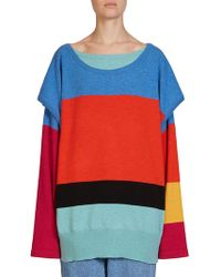 Loewe - Layered Wool & Cashmere Sweater - Lyst