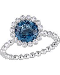 Rina Limor - London Topaz & Diamond Ring - Lyst
