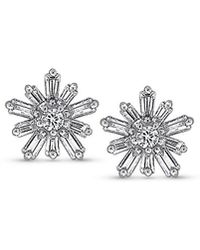 KC Designs | Mosaic Starburst Diamond And 14k White Gold Earrings | Lyst
