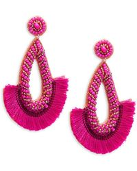 Panacea - Beaded Tassel Earrings - Lyst