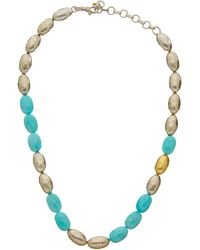 Gurhan - Cocoon 24k & Silver Amazonite Necklace - Lyst