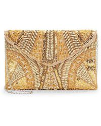 Saks Fifth Avenue Black - Neomi Beaded Envelope Clutch - Lyst