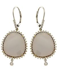Meira T - 14k & Silver 14.37 Ct. Tw. Diamond & Chalcedony Earrings - Lyst