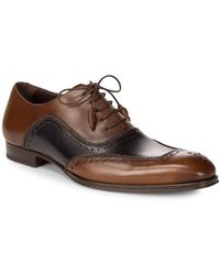 Mezlan - Perforated Leather Dress Shoes - Lyst