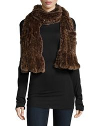 Belle Fare - Knitted Rex Rabbit Scarf - Lyst