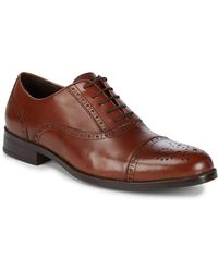 Saks Fifth Avenue - Leather Peforated Dress Shoes - Lyst