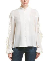 Alexis Rocio Ruffled Silk Blouse - White