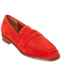 Aquatalia - Teresa Waterproof Suede Loafer - Lyst