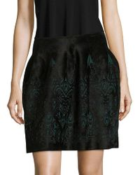 Alaïa - Printed Back-zip Skirt - Lyst
