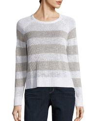 Eileen Fisher - Organic Linen & Organic Cotton Striped Jumper - Lyst