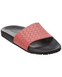 Bottega Veneta Lake Intrecciato Leather Slide