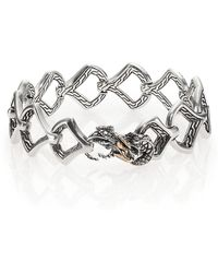 John Hardy - Naga Black Sapphire, 18k Yellow Gold & Sterling Silver Dragon Link Bracelet - Lyst