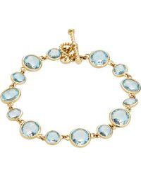 Goshwara - Gossip 18k Yellow Gold & Rose Cut Blue Topaz Bracelet - Lyst