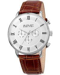 August Steiner - Slim Quartz Multifunction Watch, 44mm - Lyst