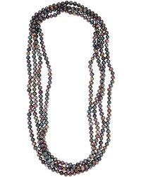 Masako Pearls - Black Freshwater Pearl Endless Necklace - Lyst