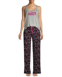 Juicy Couture - Two-piece Printed Pyjama Set - Lyst