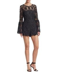 Alexia Admor - Bell Sleeve Lace Romper - Lyst