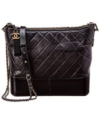 Chanel - Black Quilted Lambskin Leather Gabrielle Hobo - Lyst