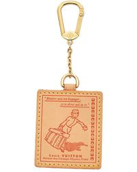 Louis Vuitton - Brown & Red Vachetta Leather Bag Charm - Lyst