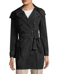 Burberry - Balmoral Belted Hood Trench Coat - Lyst