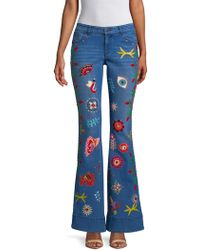 Alice + Olivia - New Ryley Cotton Jeans - Lyst