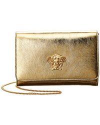 Versace - Laminated Palazzo Metallic Leather Sultan Evening Bag - Lyst 1768f761184c2