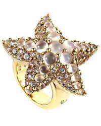 Pomellato 18k Moonstone Starfish Ring - Metallic