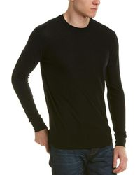Forte - Worsted Raw Edge Crew Neck Cashmere Sweater - Lyst