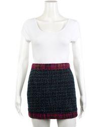 Chanel - Pre-fall 2019 Navy Tweed Wool-blend Mini Skirt, Size Eu 34 - Lyst