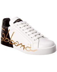 Dolce & Gabbana - Leather Sneakers - Lyst