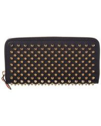 Christian Louboutin Panettone Spike Embellished Leather Wallet