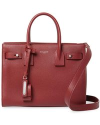 Saint Laurent - Small Leather Tote - Lyst